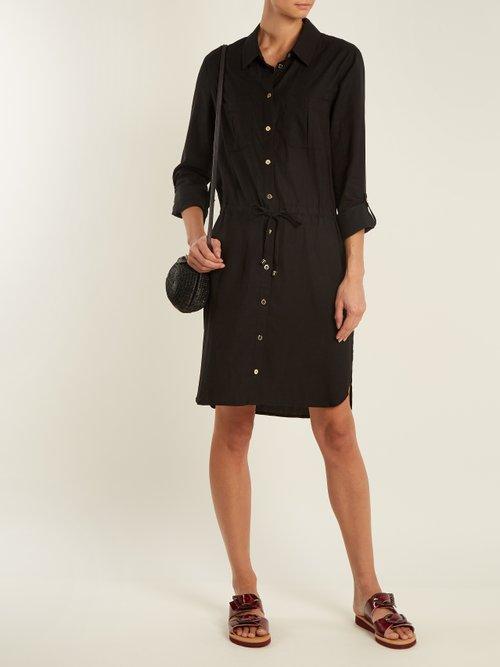 Core Drawstring Waist Woven Shirtdress by Heidi Klein