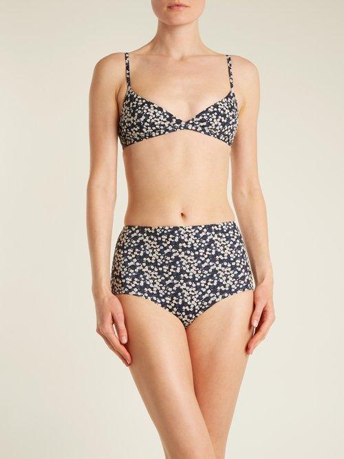 The Tri Crop triangle bikini top by Matteau