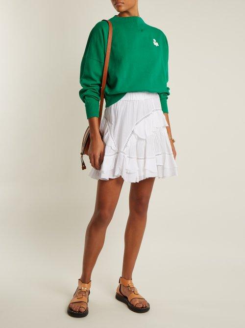 Madilon flocked-logo cotton-blend sweatshirt by