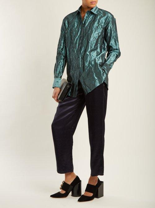 Sander crinkled-taffeta shirt by Sies Marjan