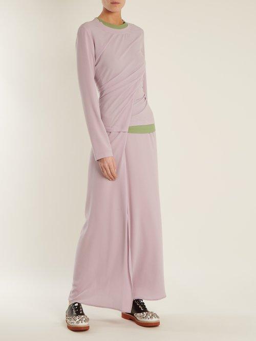 Vicki twisted-detail crepe dress by Sies Marjan