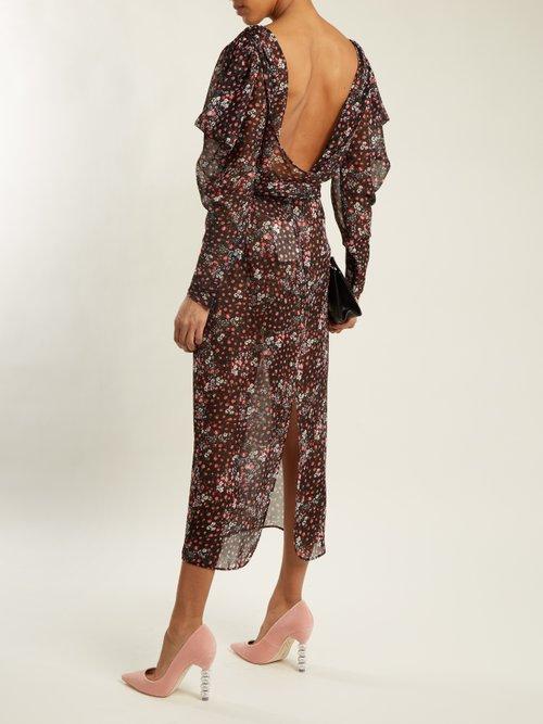 Coco crystal embellished-heel velvet pumps by Sophia Webster