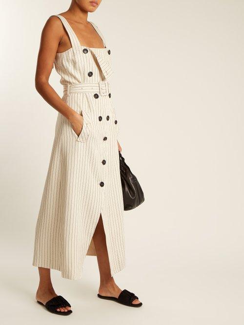 Audrey belted striped midi dress by Altuzarra
