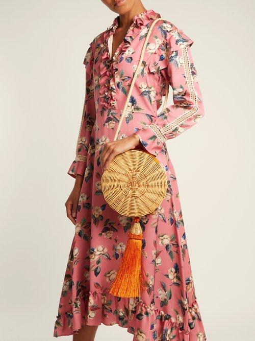 Balaio tasselled woven-rattan bag by Wai Wai