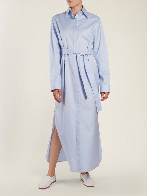 Lira tie-waist cotton shirtdress by The Row