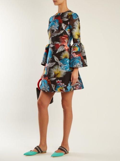 Ligretto feather-jacquard mini dress by Mary Katrantzou