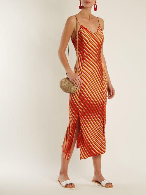 Whiston stripe-print bias silk-blend dress by Diane Von Furstenberg