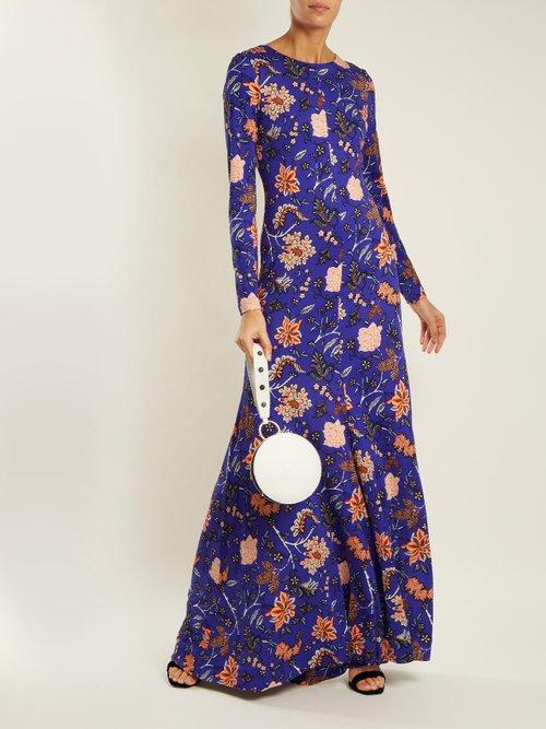 Canton Print Silk Jersey Maxi Dress by Diane Von Furstenberg