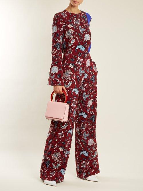 Photo of Canton Floral Print Wide Leg Trousers by Diane Von Furstenberg - shop Diane Von Furstenberg online sales