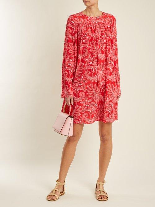 Ullman Floral Print Silk Crepe De Chine Dress by Diane Von Furstenberg