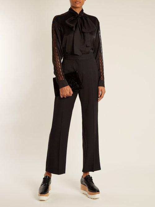 Neck-tie silk-satin blouse by Stella Mccartney