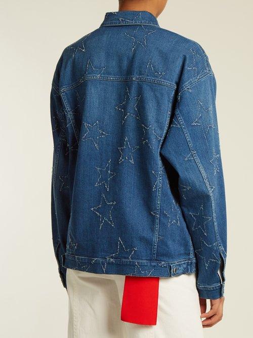 Oversized star-embroidered denim jacket by Stella Mccartney
