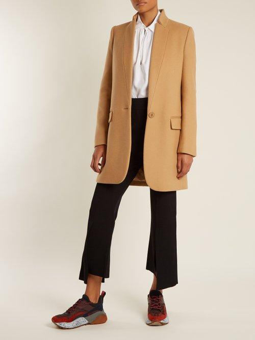 Bryce Single Breasted Wool Blend Coat by Stella Mccartney