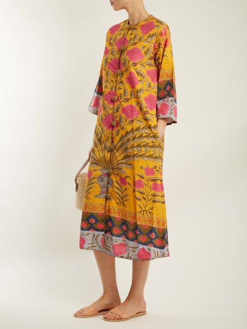 Elinv Floral Print Cotton Dress by Rhode Resort