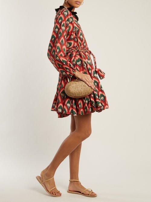 Ella floral-print tie-waist cotton dress by Rhode Resort