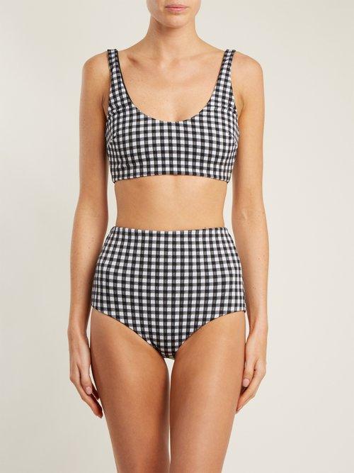 Photo of Lydia high-waisted bikini briefs by Mara Hoffman - shop Mara Hoffman swimwear sales