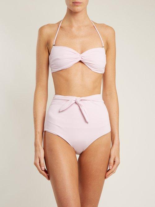 Jay knot-tie high-waisted bikini briefs by Mara Hoffman