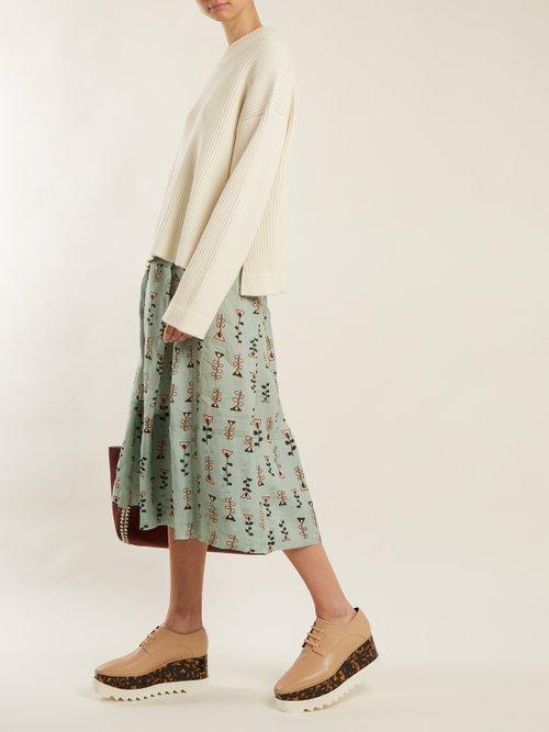 Elyse lace-up faux-leather platform shoes by Stella Mccartney