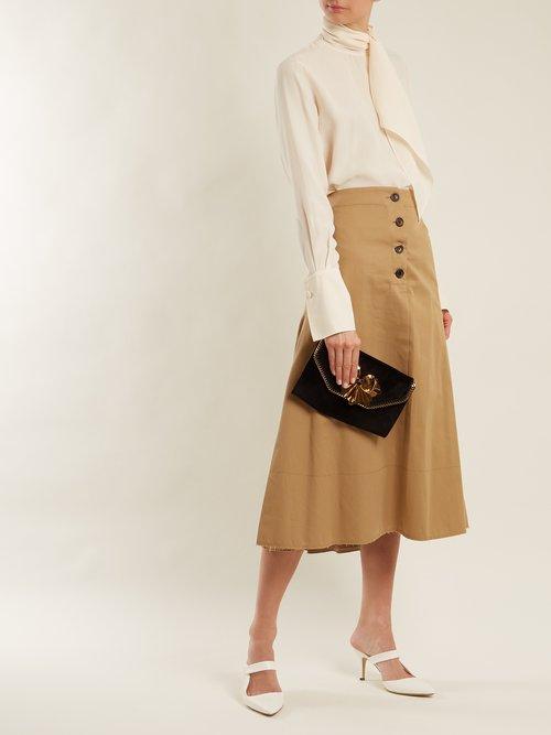 Falabella Box velvet clutch by Stella Mccartney