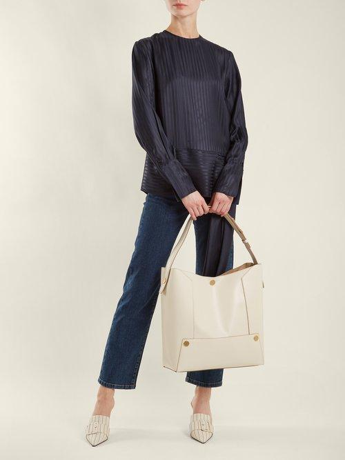 Stella Popper small faux-leather cross-body bag by Stella Mccartney