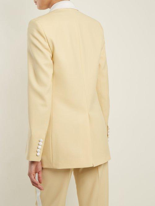 Jan single-breasted contrast-trim wool blazer by Joseph