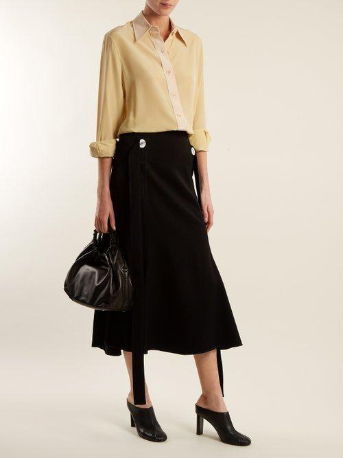 Garconne point-collar silk crepe de Chine shirt by Joseph