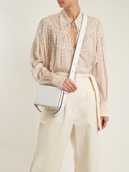 Crosby heart-print silk-chiffon blouse by Joseph