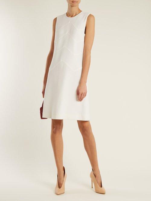 Freya wool-crepe dress by Goat