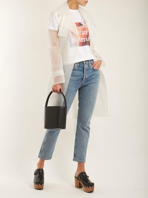 Bissett leather bucket bag by Staud