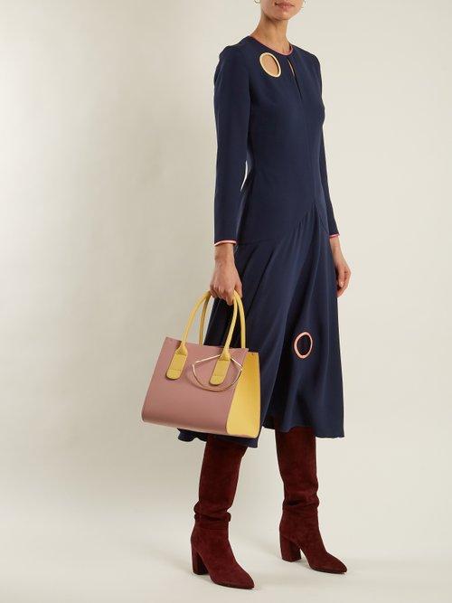 Mini Weekend leather bag by Roksanda