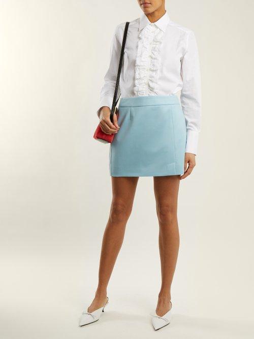 Dado ruffle-trim cotton shirt by Bella Freud
