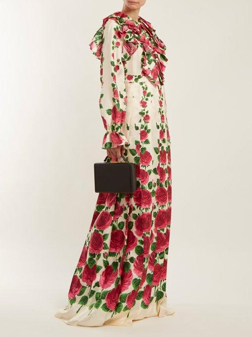 Le Jardin De Rose Silk Twill Dress by Gucci