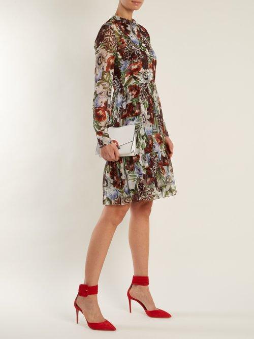 Devika Dorothea-print silk-chiffon dress by Erdem