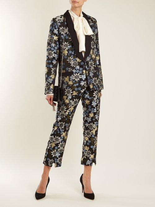 Anisha floral-jacquard jacket by Erdem