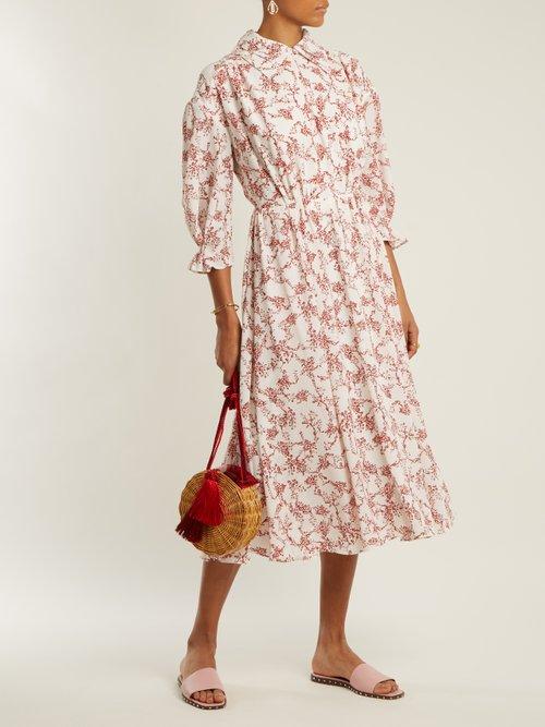 Narmina Floral Print Point Collar Crepe Dress by Emilia Wickstead