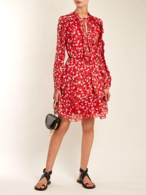 Adah floral-print silk-chiffon dress by Raquel Diniz