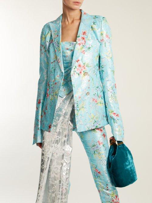 Floral Jacquard Single Breasted Jacket by Halpern