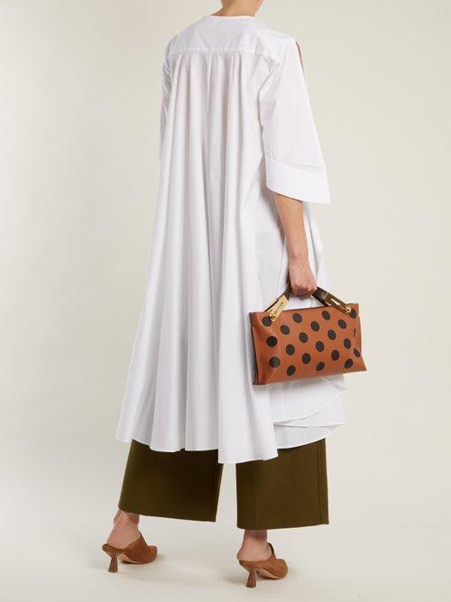 Adjustable-sleeve step-hem stretch-cotton shirt by Palmer/Harding