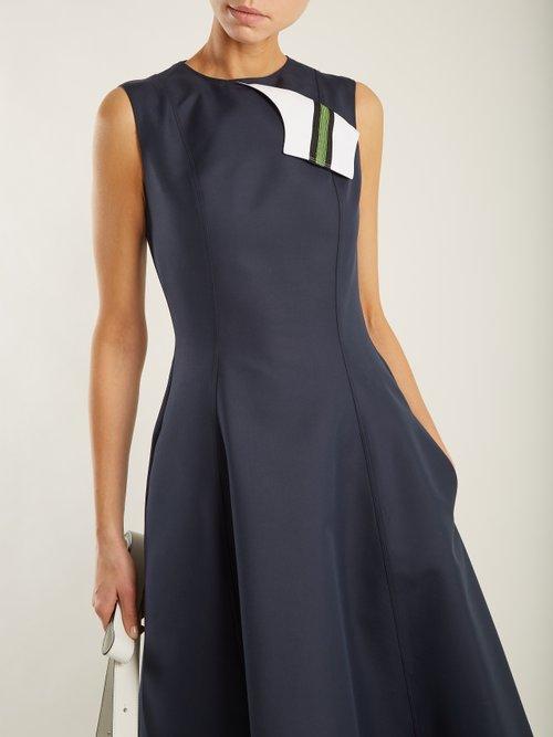 Round-neck sleeveless cotton-blend midi dress by Calvin Klein 205W39Nyc