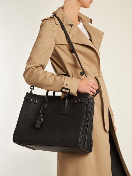 Sac De Jour medium grained-leather tote by Saint Laurent