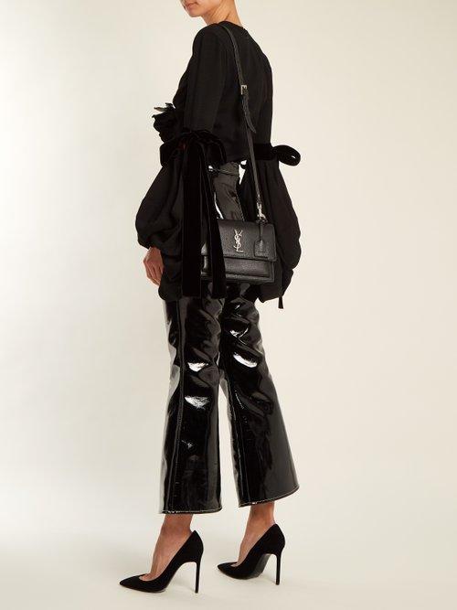 Sunset medium leather cross-body bag by Saint Laurent
