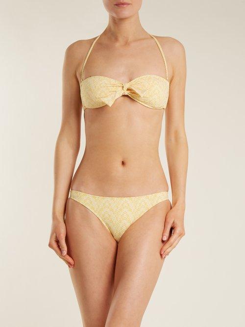 Aruba strapless tie bikini by Melissa Odabash