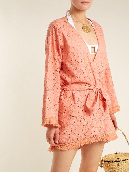 Pippa long sleeve cotton dress by Melissa Odabash