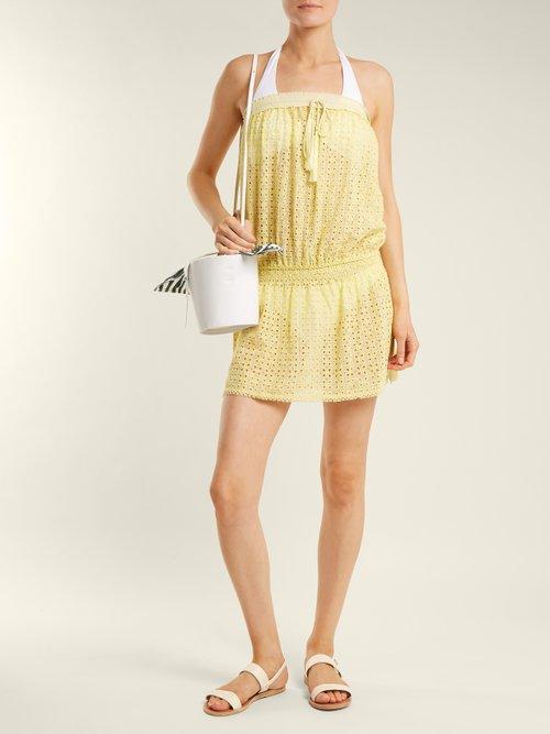 Adela strapless broderie-anglaise dress by Melissa Odabash