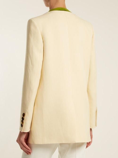Savannah Sunset silk and linen-blend blazer by