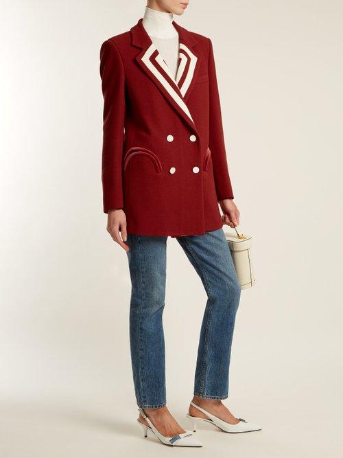 Resolute Everyday striped-lapel blazer by