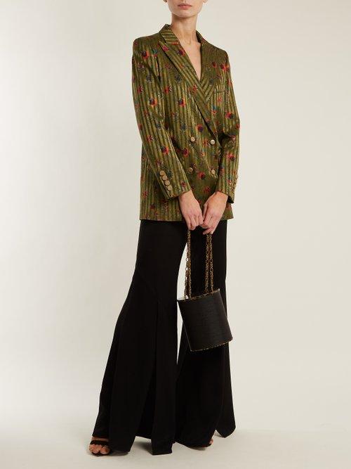 Marga Everyday floral-jacquard silk blazer by