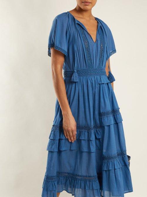Adaline ruffle-cap sleeved midi dress by Sea