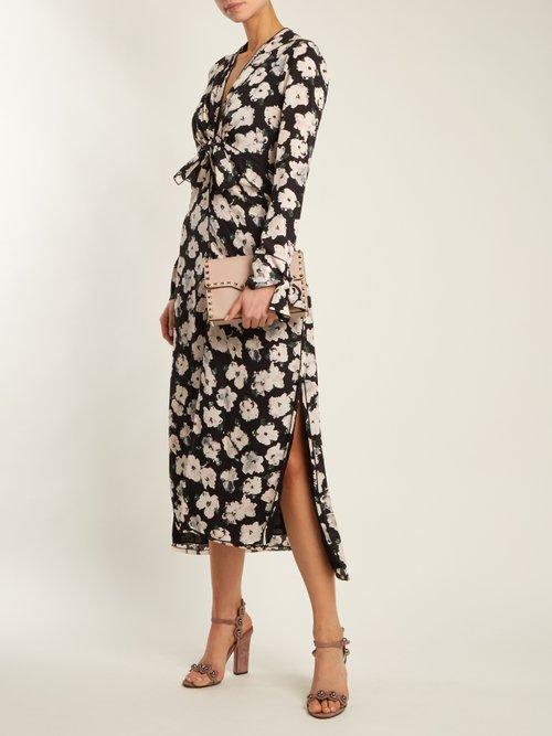 Lauren stud-embellished suede sandals by Samuele Failli