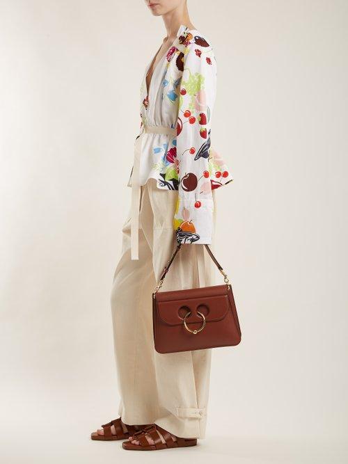 Pierce medium leather shoulder bag by J.W.Anderson